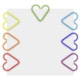 Clips de papel del arco iris Imagen de archivo