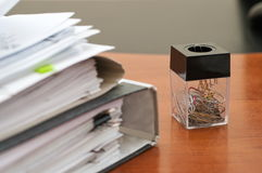 Clips de papier à lettres. Photo stock