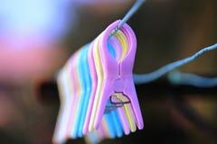 Clips del lavadero imagenes de archivo