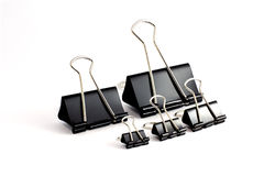 Clips on the different sizes Royalty Free Stock Photo