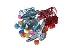 Clips, hair barrettes Royalty Free Stock Photography