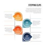 Clips Infographic del escalonamiento Fotografía de archivo libre de regalías