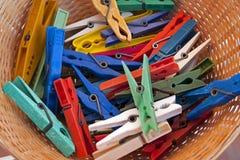 Clips para el lavadero Foto de archivo libre de regalías