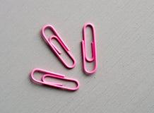 Clips rosados Foto de archivo