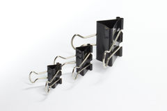 Clips in a row Royalty Free Stock Photo