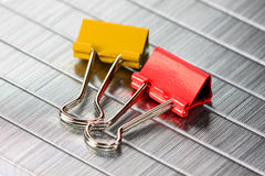 Clips on staples Royalty Free Stock Images