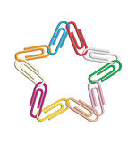 Clips star colors Stock Image