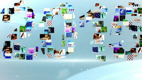 Clips vidéo formant le message 2015 illustration de vecteur
