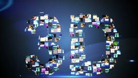 Clips vidéo formant le message 3d illustration stock