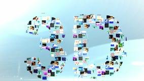 Clips vidéo formant le message 3d illustration libre de droits