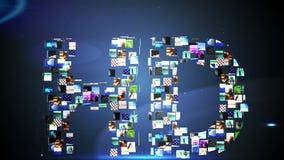 Clips vidéo formant le message de hd illustration stock