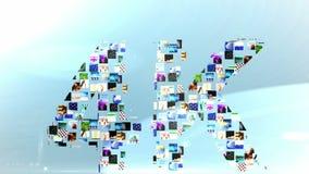 Clips vidéo formant le message 4k illustration stock