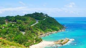 clips vidéo, le point de vue de paysage marin le plus beau pendant l'été à Phuket, Thaïlande banque de vidéos