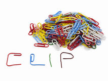 Clips and writing CLIP Royalty Free Stock Image