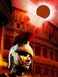 Éclipse sur l'empire romain Image stock