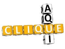 Clique 3D Aqui-Kreuzworträtsel Stockfoto