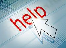 Clique da ajuda Imagens de Stock