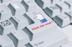 Clique-me sinal do teclado Imagem de Stock