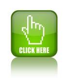 Cliquetez ici Images libres de droits