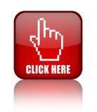 Cliquetez ici le bouton Photographie stock