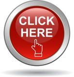 Cliquetez ici le bouton de Web illustration stock