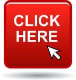 Cliquetez ici le bouton de Web illustration de vecteur