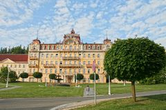 Clissic style Building in Marianske Lazne Stock Image