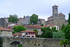 Clisson church Notre Dame, Nantes, France Royalty Free Stock Photography