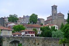 Clisson kościelny Notre Damae, Nantes, Francja Fotografia Royalty Free