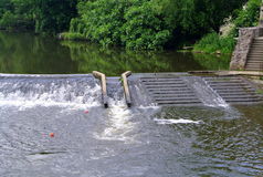 Clisson, stairs in the water of the river Stock Image