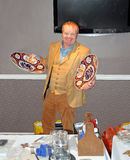 Clive attrell antiques dealer. Photo of clive attrell famous antiques dealer from itv and bbc television who appeared at the marine hotel in whitstable kent on Stock Images