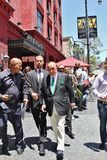 Clive Davis. Leaving Walk of Fame ceremony for Luther Royalty Free Stock Photos