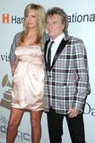 Clive Davis, Penny Lancaster, Rod Stewart. Penny Lancaster and Rod Stewart at the Salute To Icons Clive Davis Pre-Grammy Gala. Beverly Hilton Hotel, Beverly Stock Photography