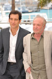 Clive Owen & James Caan. CANNES, FRANCE - MAY 20, 2013: Clive Owen Royalty Free Stock Photo