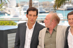Clive Owen & James Caan. CANNES, FRANCE - MAY 20, 2013: Clive Owen & James Caan at the photocall for their movie Blood Ties at the 66th Festival de Cannes Royalty Free Stock Image