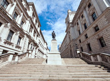 Clive Steps. Between the Churchill War Rooms and HM Treasury Building Stock Images