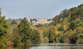 Cliveden House, an English Stately Home in Autumn. An English Stately Home viewed from the river Thames in Autumn Stock Image