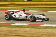 Clivio Piccione (équipe Monaco) à son Ferrari. Images libres de droits