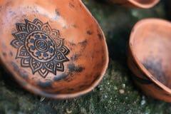 Cllay手工制造碗 免版税图库摄影