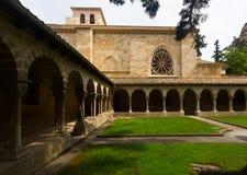 Cloître d'église de San Pedro de la Rua à Estella Photos stock