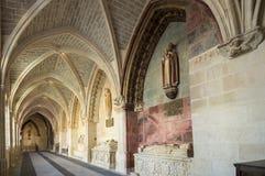 Cloître dans la cathédrale de Burgos Photographie stock