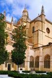 Cloître de cathédrale de Ségovie, Espagne Images libres de droits