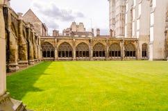 Cloître de l'Abbaye de Westminster, Londres Photographie stock libre de droits