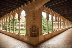 Cloître de monastère de Pedralbes à Barcelone Photo libre de droits