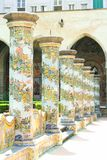 Cloître de Naples - de Santa Chiara Photographie stock