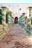 Cloître de Santa Chiara Photo libre de droits