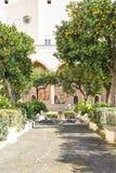 Cloître de Santa Chiara Photographie stock libre de droits