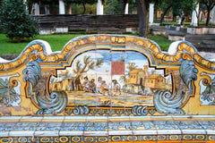 Cloître de Santa Chiara Photos stock