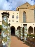 Cloître de Santa Chiara, Naples, Italie photos libres de droits