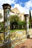 Cloître de Santa Chiara, Naples, Italie image libre de droits